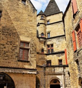Exhibition at the Hotel Maleville in Sarlat-la-Canéda in the Périgord Noir